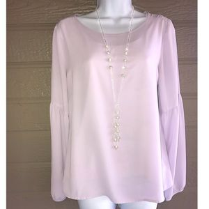 Lavender Top with gorgeous sleeves - The Limited